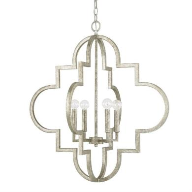 "Capital Lighting 4542AS Ellis - 26"" Four Light Pendant"