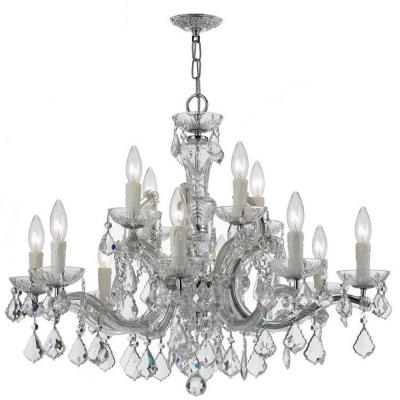 Crystorama Lighting 4379 Maria Theresa - Twelve Light Chandelier
