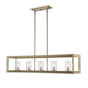golden lighting chandelier. Smyth WG - Five Light Linear Pendant Golden Lighting Chandelier