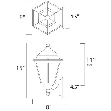 Maxim Lighting 1002 Westlake - One Light Outdoor Wall Mount
