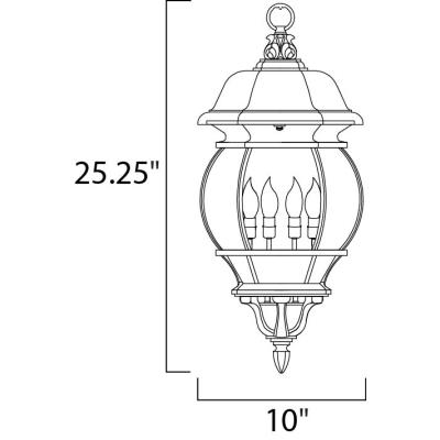 Maxim Lighting 1039 Crown Hill - Four Light Outdoor Hanging Lantern