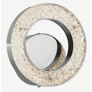Crushed Ice - 9.75 Inch 15W 75 LED Circular Wall Sconce