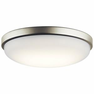 23W 1 LED Flush Mount - with Utilitarian inspirations - 3.75 inches tall by 14.5 inches wide