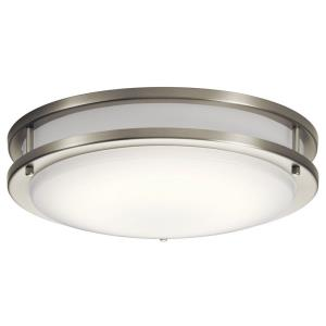 Avon - 28.5W 1 LED Flush Mount - with Transitional inspirations - 3.75 inches tall by 14 inches wide