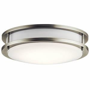23W 1 LED Flush Mount - with Transitional inspirations - 3.5 inches tall by 11.75 inches wide