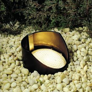Low Voltage 1 light In Ground Lamp 8 inches tall by 5.5 inches wide