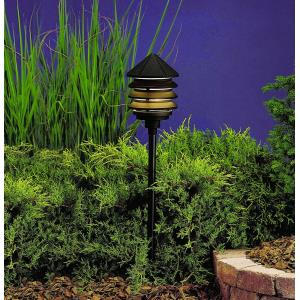 Six Groove - Line Voltage 1 light Path Lamp - 9.5 inches tall by 6 inches wide