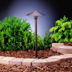 1 light Domed Path Light 21 inches tall by 8.5 inches wide