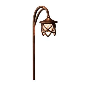 Cathedral - Low Voltage One Path Light - with Transitional inspirations - 27 inches tall by 5 inches wide