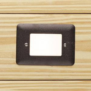 0.86W 1 LED Step Light - with Utilitarian inspirations - 3.5 inches tall by 5 inches wide