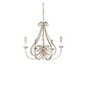 Dover - 5 light Chandelier no Shades - with Transitional inspirations - 24.5 inches tall by 25 inches wide