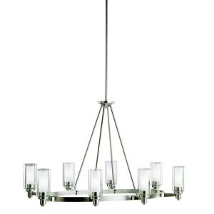 Circolo - 8 light Island Pendant - with Soft Contemporary inspirations - 27 inches tall by 25 inches wide