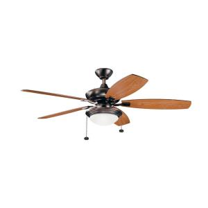 Canfield Select - Ceiling Fan with Light Kit - with Transitional inspirations - 17 inches tall by 51.75 inches wide