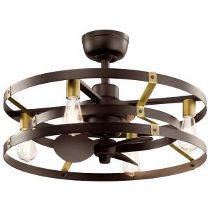 Cavelli - Ceiling Fan with Light Kit - with Contemporary inspirations - 16.25 inches tall by 25 inches wide