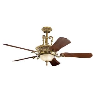 Kimberley - Ceiling Fan with Light Kit - with Traditional inspirations - 19.25 inches tall by 60 inches wide