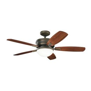Carlson - Ceiling Fan with Light Kit - with Transitional inspirations - 16.5 inches tall by 52 inches wide