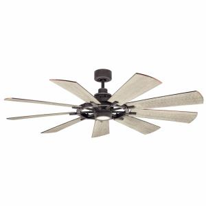 Gentry - Ceiling Fan with Light Kit - with Lodge/Country/Rustic inspirations - 16.5 inches tall by 65 inches wide