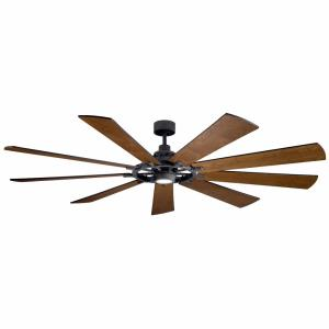 Gentry XL - Ceiling Fan with Light Kit - with Lodge/Country/Rustic inspirations - 16.5 inches tall by 85 inches wide