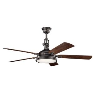 Hatteras Bay - Ceiling Fan with Light Kit - with Traditional inspirations - 17.5 inches tall by 60 inches wide