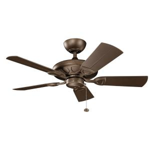 Kevlar - Ceiling Fan - with Traditional inspirations - 13.75 inches tall by 42 inches wide