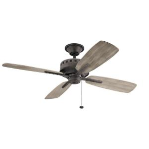 Eads - Ceiling Fan - with Utilitarian inspirations - 14 inches tall by 52 inches wide