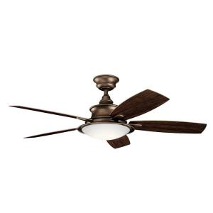 Cameron - Ceiling Fan with Light Kit - with Transitional inspirations - 16.25 inches tall by 52 inches wide