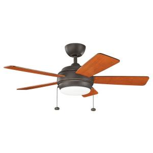 Starkk - Ceiling Fan with Light Kit - 13.75 inches tall by 42 inches wide