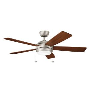 Starkk - Ceiling Fan with Light Kit - 13.75 inches tall by 52 inches wide