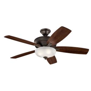 Monarch II Select - Ceiling Fan with Light Kit - with Transitional inspirations - 19 inches tall by 13.75 inches wide
