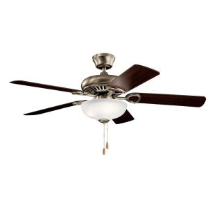Sutter Place Select - Ceiling Fan with Light Kit - 18 inches tall by 52 inches wide