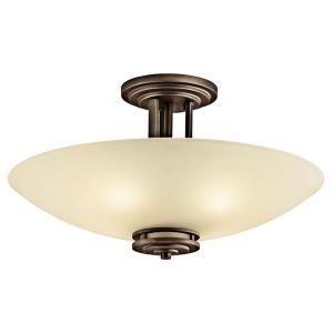 Hendrik - 4 light Semi-Flush Mount - with Soft Contemporary inspirations - 12.25 inches tall by 24 inches wide