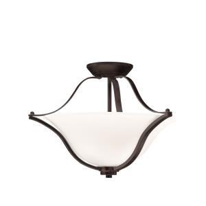 Langford - 2 Light Convertible Semi-Flush Mount - with Transitional inspirations - 15.25 inches tall by 18.75 inches wide