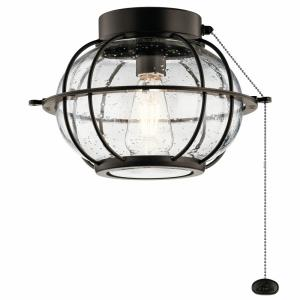 Bridge Point - 7W 1 LED Ceiling Fan Light Kit - with Transitional inspirations - 8.25 inches tall by 12.5 inches wide