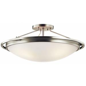 - 4 light Semi-Flush Mount - with Transitional inspirations - 10 inches tall by 23.25 inches wide