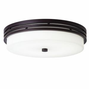 Ceiling Space - 1 Light Flush Mount Steel - with Transitional inspirations - 3.25 inches tall by 14 inches wide