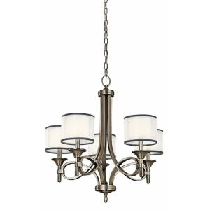 Lacey - 5 light Chandelier - with Transitional inspirations - 26 inches tall by 25 inches wide
