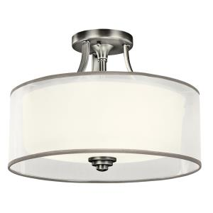 Lacey - 3 light Semi-Flush Mount - with Transitional inspirations - 10.75 inches tall by 15 inches wide