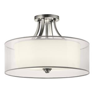 Lacey - 4 light Semi-Flush Mount - with Transitional inspirations - 13 inches tall by 20 inches wide