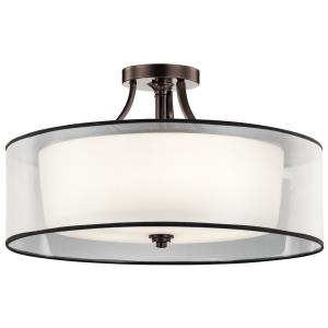 Lacey - 5 light Semi-Flush Mount - with Transitional inspirations - 15.25 inches tall by 28 inches wide