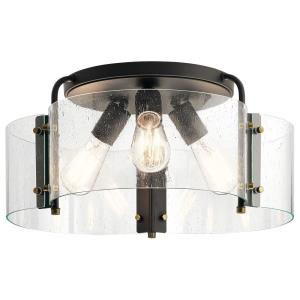 Thoreau - 3 light Semi-Flush Mount - 8.5 inches tall by 18 inches wide
