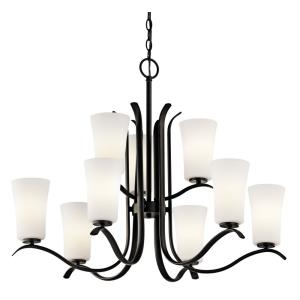 Armida - 9 Light 2-Tier Chandelier - with Transitional inspirations - 26.25 inches tall by 32.5 inches wide