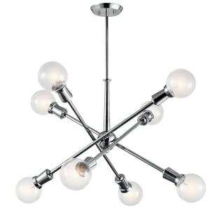 Armstrong - 8 Light Large Chandelier - with Contemporary inspirations - 26 inches tall by 30 inches wide
