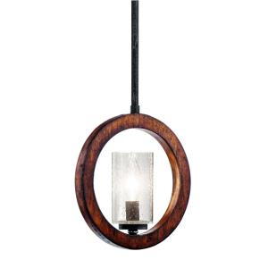 Grand Bank - 1 Light Mini Pendant - with Lodge/Country/Rustic inspirations - 9.75 inches tall by 2.75 inches wide