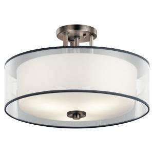 Tallie - 3 light Semi-Flush Mount - 11.75 inches tall by 18 inches wide