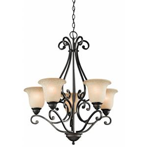 Camerena - 5 Light Chandelier - with Traditional inspirations - 31.25 inches tall by 27 inches wide