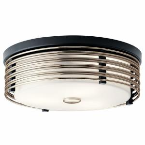 Bensimone - 2 light Flush Mount - with Contemporary inspirations - 5.25 inches tall by 15.25 inches wide