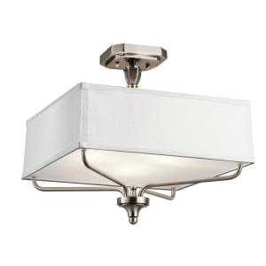 Arlo - 3 light Semi Flush Mount - with Traditional inspirations - 15 inches tall by 15 inches wide