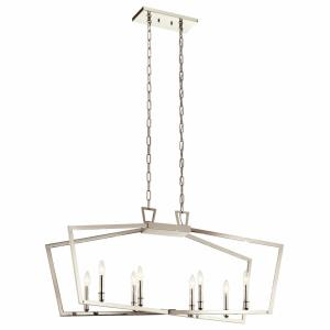 Abbotswell - 8 Light Linear Chandelier - with Traditional inspirations - 20.25 inches tall by 12.75 inches wide