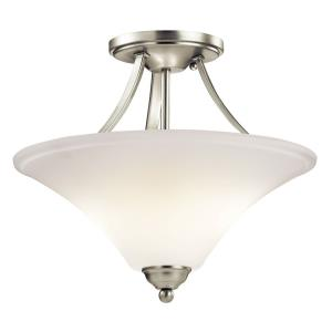 Keiran - 2 Light Semi-Flush Mount - with Transitional inspirations - 13 inches tall by 15 inches wide