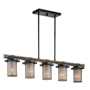 Ahrendale - 5 light Linear Chandelier - with Lodge/Country/Rustic inspirations - 8.75 inches tall by 6 inches wide